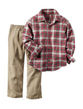 Carters® 2-pc. Plaid Print Shirt & Pants Set - Baby 12-24 Mos.