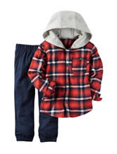 Carter's® 2-pc. Plaid Print Shirt & Navy Pants - Baby 12-24 Mos.