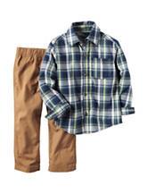 Carter's® Plaid Print Shirt & Pants Set - Baby 12-24 Mos.