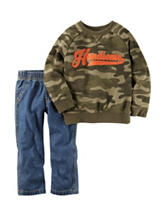 Carter's® 2-pc. Handsome Shirt & Jeans Set - Baby 12-24 Mos.
