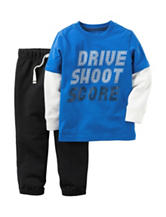 Carter's® 2-pc. Drive Shoot Score T-shirt & Pants Set - Toddler Boys