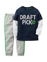 Carter's® 2-pc. Draft Pick T-shirt & Pants Set - Toddler Boys