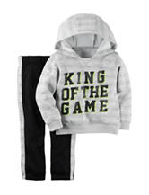 Carters® 2-pc. King of the Game Hoodie & Pants Set - Baby 12-24 Mos.