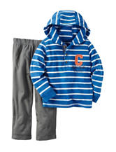 Carters® 2-pc. Striped Hoodie & Pants Set - Baby 12-24 Mos.