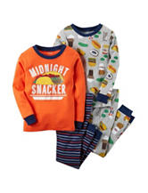 Carter's® 4-pc. Midnight Snack Print Pajama Set - Baby 12-24 Mos.