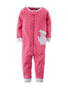 Carter's® Teacup Mouse Polka Dot Print Footless Sleeper – Toddler Girls