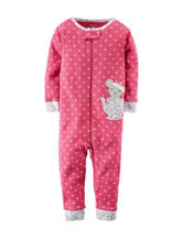 Carter's® Teacup Mouse Polka Dot Print Footless Sleeper – Toddler Girls