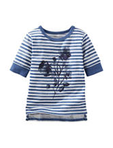 OshKosh B'gosh® Blue & White Striped Print Top - Toddler Girls