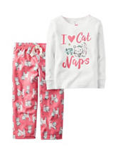 Carters® 2-pc. I love Cat Naps Pajama Set - Toddler Girls