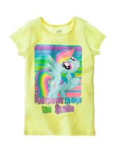 Rainbows Make Me Smile Tee - Girls 4-6x