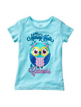 Twirl Mint Messy Hair Cuteness Top – Girls 4-6x