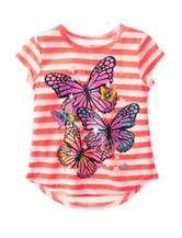 Twirl Butterfly Striped Hi-Lo Top – Girls 4-6x