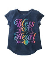 Twirl Bless Your Heart Hi-Lo Top – Girls 4-6x