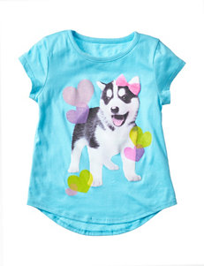 Twirl Blue Love Husky Hi-Lo Top – Girls 4-6x