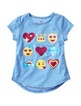 Twirl Striped Emoji Hi-Lo Top – Girls 4-6x