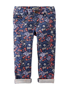 OshKosh B'gosh® Floral Print Twill Pants - Toddler Girls
