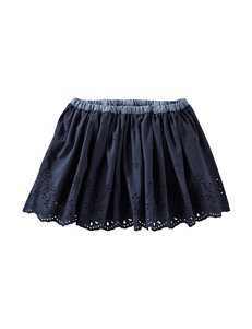 OshKosh B'gosh® Navy Eyelet Skirt - Toddler Girls