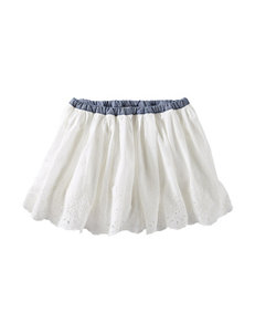 OshKosh B'gosh® White Eyelet Skirt - Toddler Girls
