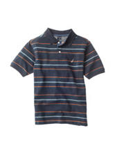 Nautica Classic Navy Striped Polo Shirt – Boys 8-20