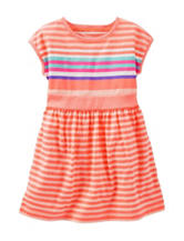 OshKosh B'gosh® Multicolor Stripe Print Dress - Toddler Girls