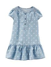 OshKosh B'gosh® Dot Print Chambray Dress - Toddler Girls