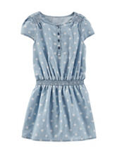 OshKosh B'gosh® Dot Print Chambray Dress - Girls 4-6x