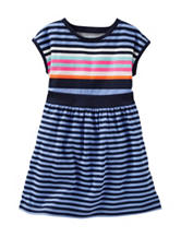 OshKosh B'gosh® Multicolor Stripe Print Dress - Toddler Girls