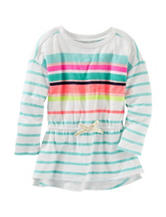 OshKosh B'gosh® Multicolor Striped Print Tunic Top - Girls 4-6x
