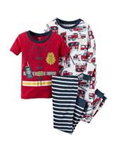 Carter's® 4-pc. Fireman Pajama Set - Toddler Boys