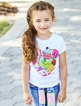 Shopkins Heart Outline T-shirt - Girls 4-6x