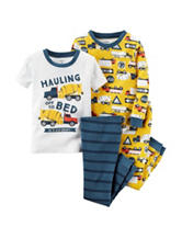 Carter's® 4-pc. Hauling Off To Bed Pajama Set - Toddler Boys