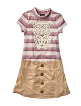 Lilt Owl Marsha Dress - Girls 4-6x