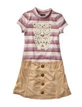 Lilt Owl Marsha Dress - Girls 4-6x