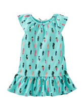 OshKosh B'gosh® Feather Print Tunic - Toddler Girls