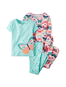 Carters® 4-pc. Butterfly Pajama Set - Girls 10-12