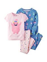 Carter's® 4-pc. Silly Hair Pajama Set – Girls 4-8