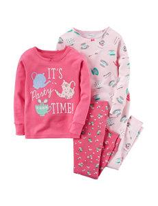 Carter's® 4-pc. Party Time Pajama Set - Toddler Girls