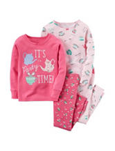 Carter's® 4-pc. Party Time Pajama Set - Toddler Girls