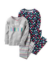 Carter's® 4-pc. Wake Up Awesome Pajama Set - Girls 4-8