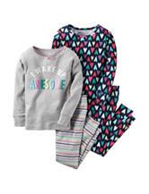Carter's® 4-pc. Wake Up Awesome Pajama Set - Girls 10-12