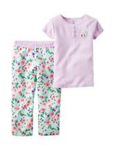 Carter's® 2-pc. Owl Stripe Print Pajama Set – Girls 4-8