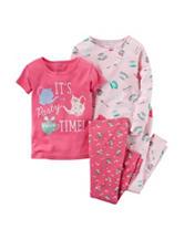 Carter's® 4-pc. Party Time Pajama Set - Girls 10-12 Plus