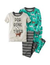 Carter's® 4-pc. Dog Gone Tired Pajama Set - Boys 4-8