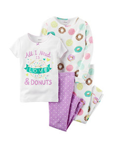 Carter's® 4-pc. Love & Donuts Pajama Set - Toddler Girls