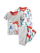 Carter's® 4-pc. Dino Rawr Pajama Set - Boys 10-12
