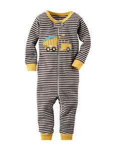 Carter's® Dump Truck Stripe Print Footless Sleeper - Toddler Boys