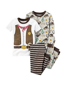 Carter's® 4-pc. Cowboy Pajama Set - Toddler Boys