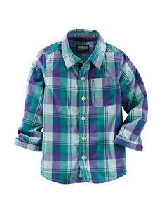 OshKosh B'gosh® Multicolor Plaid Print Woven Shirt - Toddler Boys