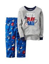 Carters® 2-pc. Lets Play Ball Pajama Set - Boys 4-8