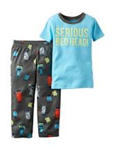 Carter's® 2-pc. Serious Bed Head Pajama Set - Toddler Boys